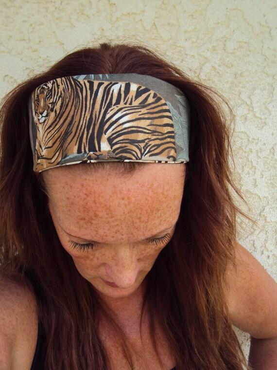 Items Similar To Tiger Headband Yoga Hair Band Work Out