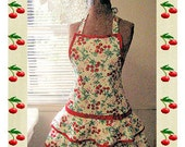 Retro style womens full apron pattern