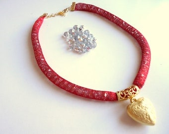 women necklace, heart, gifts for her