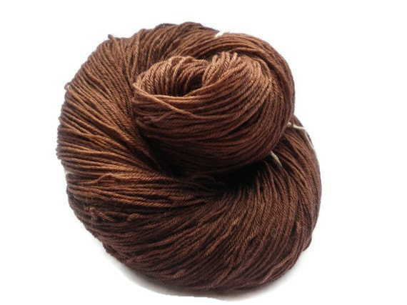 Hand Dyed Merino / Nylon Sock Yarn Brown