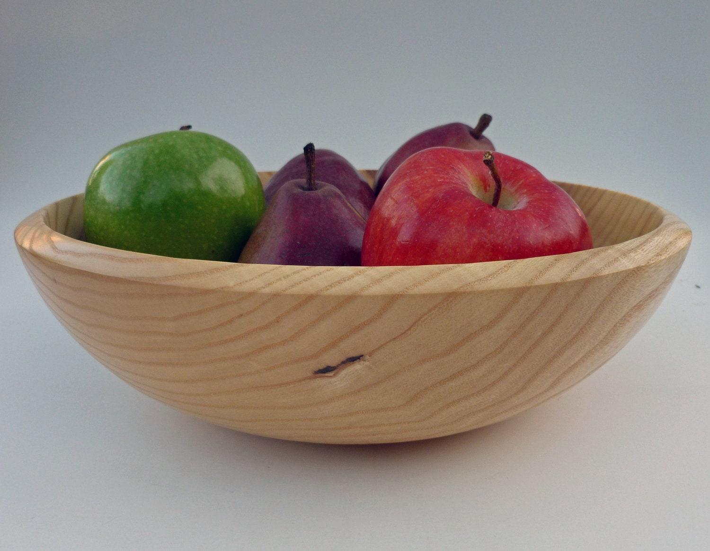 Wood Bowl Ash Bowl Salad Bowl Wooden Fruit Bowl Handturned