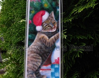 Cat Christmas Ornament - Christmas Tree Ornament - Christmas Brown Tabby Cat