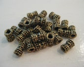 Antique Gold Tube Spacers 6x7mm