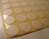 little white round stickers 50 sheets