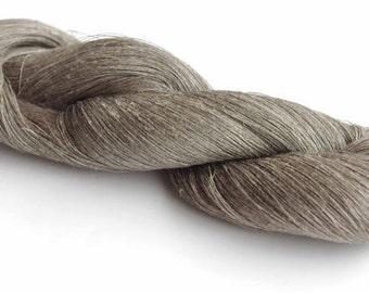 300gr linen yarn, linen thread, flex, natural linen gray yarn, weaving, art work yarn