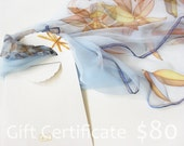 Gift Certificate for Hand painted Silk scarf in DEsilk shop