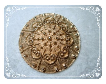 Vintage Accessocraft Brooch Smart Tailored Discus  1442ag-040111000