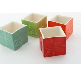 Vibrant Box Candle Holders- Set of 4