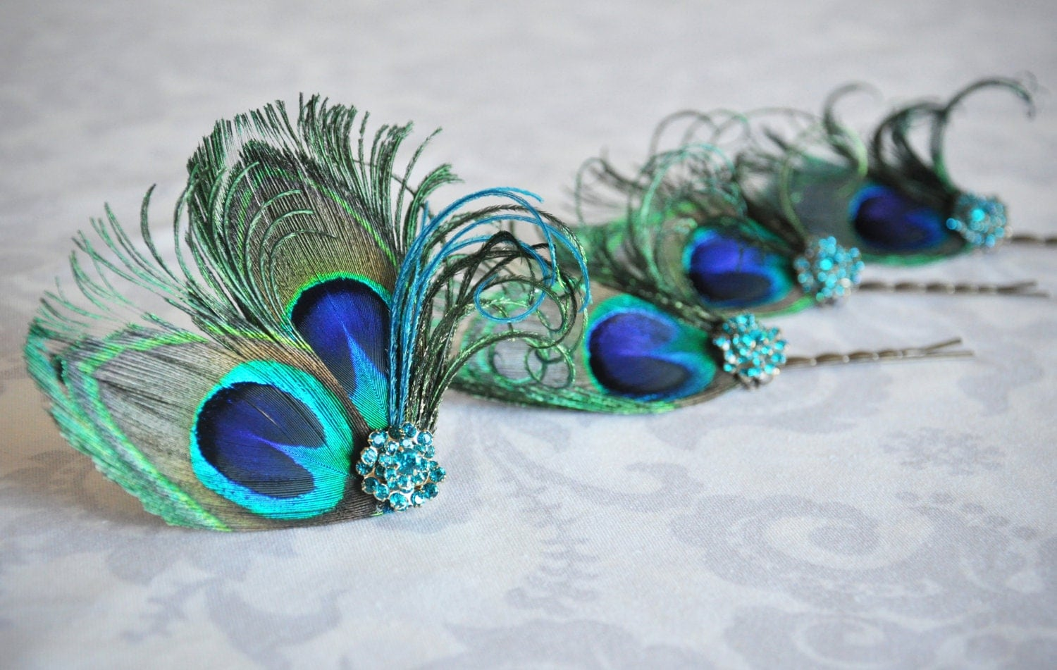 peacock feather hair accessories turquoise bridal hair clip