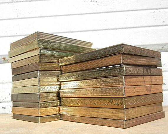 Custom Set for Kim - 10 Sweet Gold Metal Frames