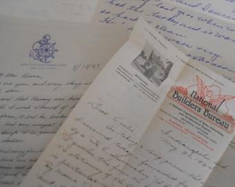 Vintage Handwritten Letter Lot