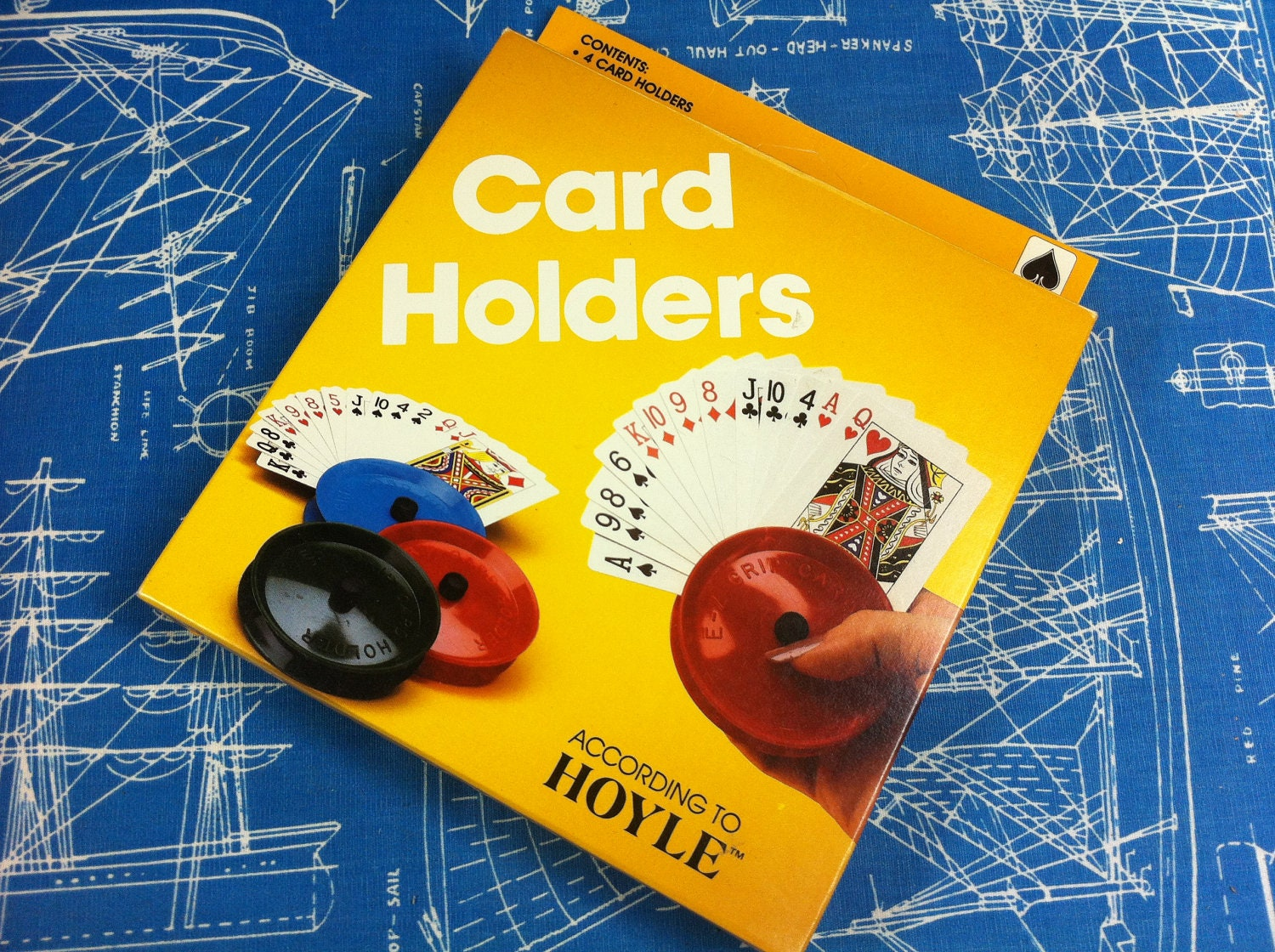 Vintage Hoyle Playing Card E Z Grip Card Holders Nos 4 In