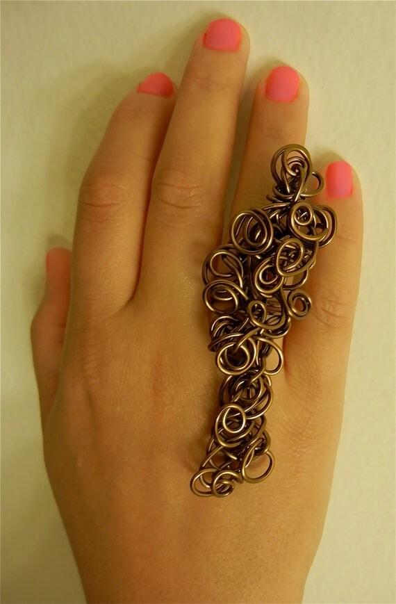 Statement Ring-Antique bronze Swirlz