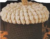 Vintage Crochet Pattern Acorn Catch All Bowl PDF Instant download