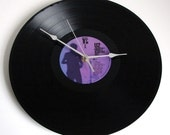 """U2 Vinyl Record CLOCK made from recycled 12"""" Under A Blood Red Sky. Classic U2. A Great Gift for Rock fans...."""