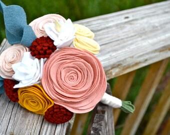 Felt Flower Bouquet - bridesmaids bouquet/bridal bouquet