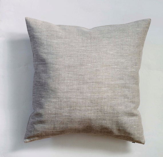 Linen pillow case natural fabric pillow cover by pillowlink - Fabric for throw pillows ...