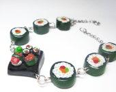 fabulous sushiroll and sushiplatter bracelet