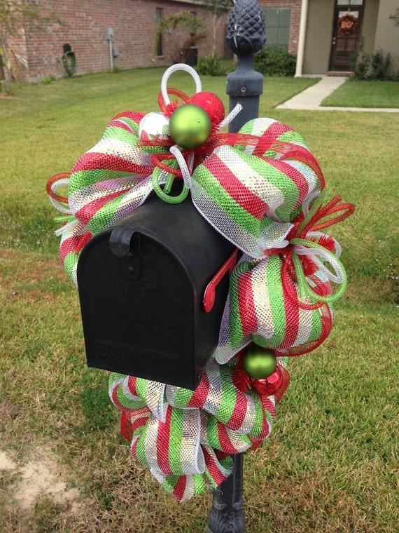 Deco Mesh Mailbox Swag