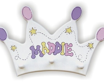 Princess Crown Clothes Hanger Personalized