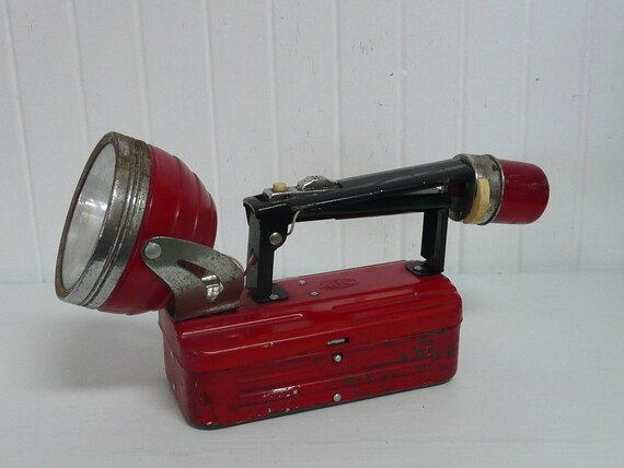 Vintage Flashlight Torch Lamp with Beacon Light, ABC Brand - Vintage Travel Trailer and Home Decor