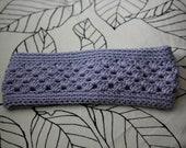 Purple Heather Crochet Headband Earwarmer Head Wrap
