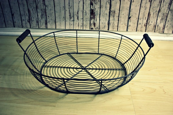 """Large Wire Basket-Newborn Photo Prop-Infant Photo Prop 18.5"""" long x 14"""" wide x 4.5"""" tall"""