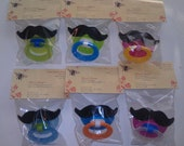 NUK BPA-Free Mustache Pacifier CHOICE of 1, Blue, Green, or Pink