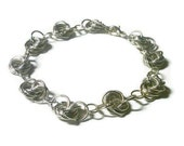 Bracelet Chainmaille Silver Mobius Knot & Matching Earrings