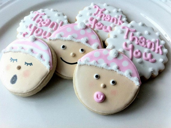 similar to two dozen decorated baby shower cookie favors cute baby