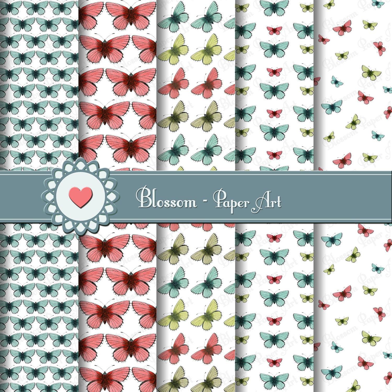Mariposas Papeles decorativos para imprimir Mariposas para
