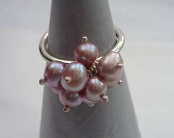 Freshwater Pearl Cluster Ring
