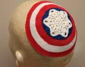 Captain America Crocheted Kippah / Yarmulke