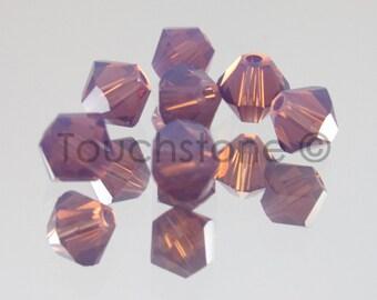4mm Cyclamen Opal Swarovski Crystal Bicone Beads 72 Beads #45-1119