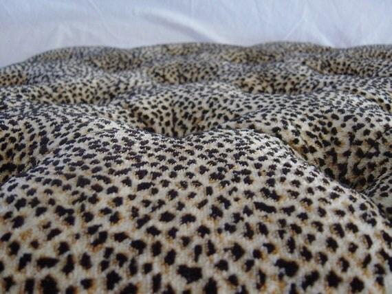 Fabulous Faux Leopard Tufted Regency Style Ottoman