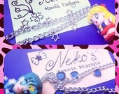 SPECIAL DEAL . Sailor Moon Necklaces, ooak, Sailor Venus and Sailor Mercury .