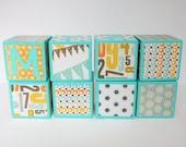 Teacher Name Gift - Personalized Name Blocks - SET OF 8