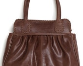 NOVEL. Leather handbag / small leather handbag / brown leather purse / brown leather handbag. Available in different leather colors.