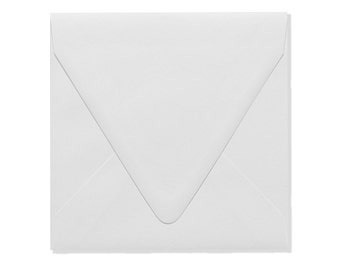 6 1/2 x 6 1/2 Square Contour Flap Envelopes - 100% Recycled - Choose A Color - Quantity of 50