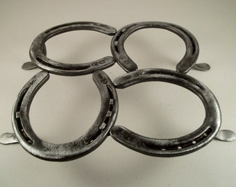 Horse Shoe Trivet with Hand Forged Legs