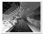 Philadelphia Skyscrapers, Fine Art Photograph Art Print - 11x14, Downtown Philly Skyscrapers, Black and White, Gray
