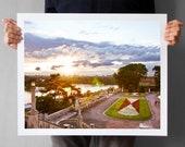 Belgrade Photograph - 16x20, Kalemegdan Fortress, Travel Photography, Sunset Over The River