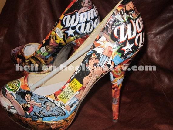 Wonder Woman Heels Size 6-11