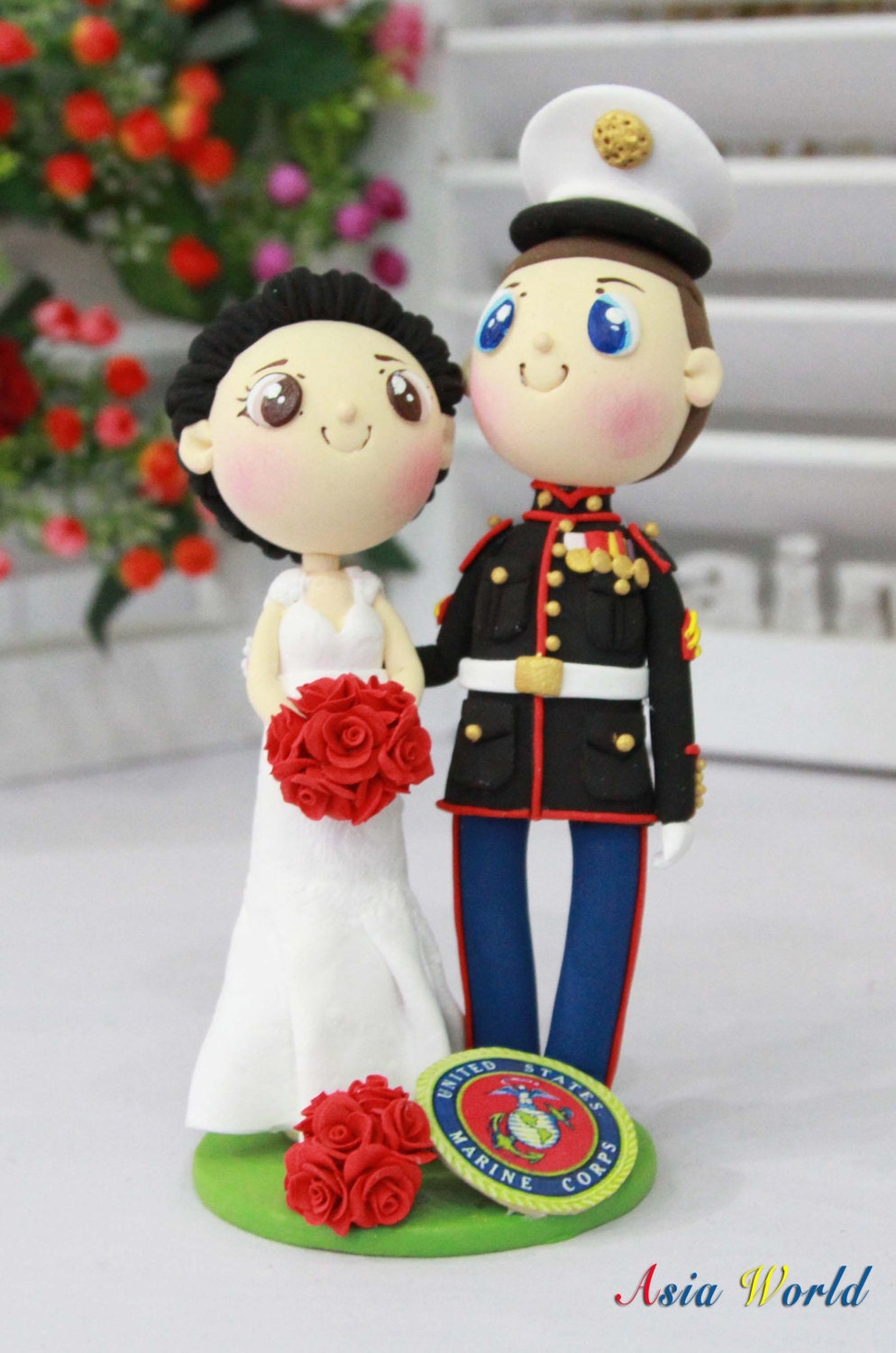 Marine Cake Toppers For Wedding Cakes us Marine Wedding Cake Topper