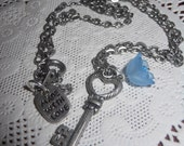 Silver Key of Love Necklace