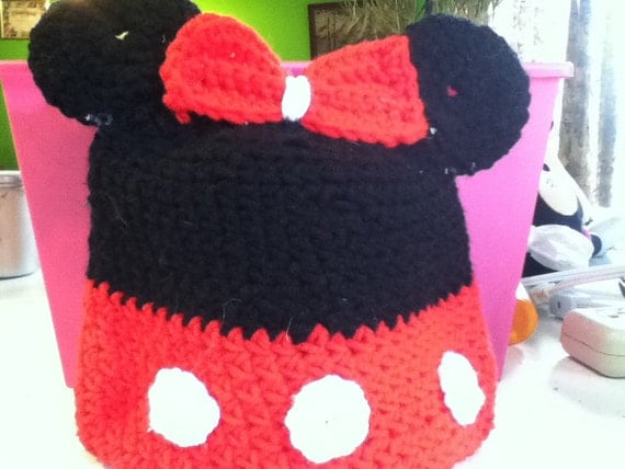 You're looking at a Minnie Mouse Beanie. I can make for anyone, any size.