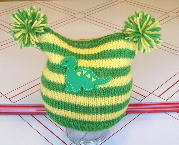 SALE-CLEARANCE- Knit dinosaur hat- size toddler 1-3 yrs