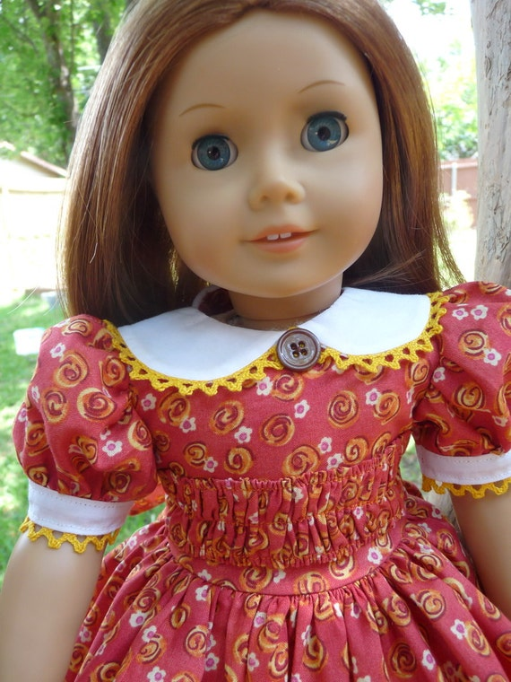 """18"""" Doll Clothes 1930s--1940's Style School or Party Dress Fits American Girl Molly, Emily, Kit, Ruthie"""