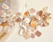 mussel shell   button 50pcs  jewelry making materials.