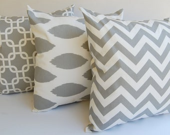 Gray Pillow Throw Pillows Decorative Pillow Covers Cushion Covers Accent Pillows Gray and White Pillow Covers